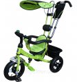Bелосипед трехколесный Mini Trike надувные колеса (зеленый). Вес 11,3 кг (57х30х41 см)