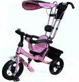 Bелосипед трехколесный Mini Trike надувные колеса (розовый). Вес 11,3 кг (57х30х41 см)