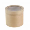 Коробка (тубус) из букового шпона 75х 160(мм)  с прозрачной крышкой  КР-3/1