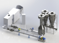 The equipment for production of briquettes from peat, the TSU-K drying complex