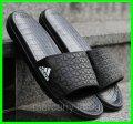 Мужские Шлёпанцы Тапочки ADIDAS Сланцы Адидас Чёрные (размеры: 45р)