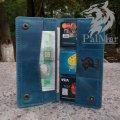 """Портмоне гаманець клатч шкіряний """"Сlassic2"""" ручної роботи, натуральна шкіра, на кнопці"""