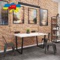 Стол обеденный Бинго Лайт Металл-дизайн Черный бархат/Аляска 750*1200*750