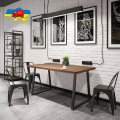 Стол обеденный Бинго Оверлайт Металл-дизайн Черный бархат/Дуб Античный 750*1200*750
