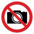 Знак Запрещается фотографировать d-150 мм с-к пленка