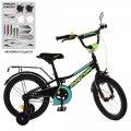 Велосипед детский PROF1 16д. Y16224 Prime, черный (мат),звонок,доп.колеса