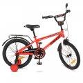 Велосипед детский PROF1 18д. T1875 Forward,красный,звонок,доп.колеса