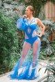 Купальник женский Borodina Antonina синий с синим фатиновым комбезом (0646)
