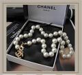 Бусы \ Ожерелье Chanel, белый жемчуг ch111