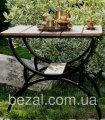Кофейный столик металлический садовый Домино