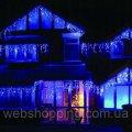 Новогодняя гирлянда Бахрома 5м - 100 LED для улицы, на крышу, козырек, свечение синее!!