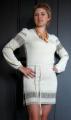 Трикотажная туника-вышиванка(вишиванка) для женщин и девушек