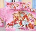 Комплект полуторного постельного белья Винкс (розовый) ТМ KESSAR POLLO