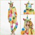 Пижама Кигуруми Единорог цветной Взрослые и Детские Единорог