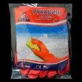Рукавички Z-BEST Prof. Line-45193 міцні оранжеві латексні господ. р.S-7 пара (100я)