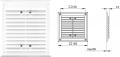 Вентиляционная решетка - 155х155 мм, арт.1119А