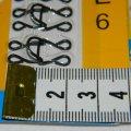 №6 крючки, застежки для одежды Sindtex черные 24шт (653-Т-0086)