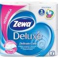 Туалетная бумага Zewa Deluxe Delicate Care (белая) 4 рулона, 3 слоя