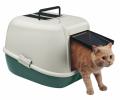 Закрытый кошачий туалет с угольным фильтром, дверкой и ручкой