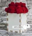 Сувенир из ламинированной фанеры со мхом Red Moss&White Wood, S80