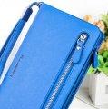 Синий женский кошелек Baellerry Classic (портмоне, клатч) + сережки