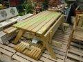 Стол для пикника, дачи и сада, стол с откидными скамейками, длина 2метра