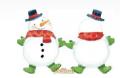 Новогодние шары Снеговик с шарфом