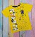 Футболка желтая для мальчиков с эмблемой р ;104