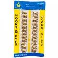 №0 крючки, застежки для одежды Sindtex золотые 24шт (653-Т-0717)