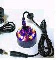 Ультразвуковой 12 светодиодных ламп Генератор тумана фонтана ультразвуковой парогенератор с Блоком питания