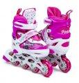 Роликовые коньки раздвижные для детей и подростков. Размер 34-37, 29-33 Розовый