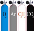 Промышленные газы - Кислород, двуокись углерода(углекислота), ацетилен, аргон, азот.