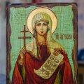 Икона Таисия святая мученица, на дереве, под старину