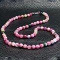 Турмалин розовый рубеллит, бусы, 046ОТ