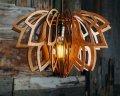Люстра деревянная СОНЦЕ by smartwood   Люстра лофт   Дизайнерский потолочный светильник GREEN, WHITE