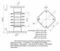 Изолятор опорный стержневой кремнийорганический ИОСК 10-110-1220