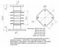 Изолятор опорный стержневой кремнийорганический ИОСК 12,5-110-1220