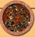 Камень природный Rosso Santiago