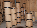 Wooden tubs, flanks, kegs, tubs and a tub
