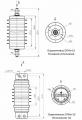 Ограничители перенапряжения с цельнолитой защитной оболочкой  ОПНп - 15 кВ