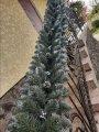 Гирлянда хвойная Кармен с серебряными шишками, жемчугом 2.70м / Елочная ветка / Гірлянда / Елка искусственная