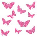 Набор интерьерных бархатных наклеек-бабочек