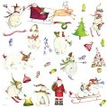 Набор интерьерных новогодних наклеек 'Winter Holiday'
