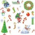 Набор интерьерных новогодних наклеек 'Merry Christmas'