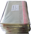 Polypropylene bags with flap and sticky layer