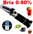 The refractometer for sugar of automatic telephone exchange of BRIX of 0-90% the measuring instrument of content of sugar