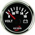 Вольтметр ECMS CMV2-BS-8-16 52мм черный 801-00029 СЕРИЯ ЭКОНОМ