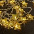 """Гирлянда """"Золотые звездочки"""" 20 LED, цвет теплый белый"""