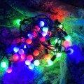 Светодиодная гирлянда матовый шарик, мультиколор