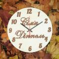 Настенные деревянные именные часы с бесшумным механизмом Настінний дерев'яний іменний годинник з безшумним механізмом